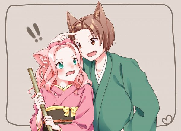 Tags: Anime, Pixiv Id 4914281, Konohana Kitan, Natsume (Konohana Kitan), Ren (Konohana Kitan)