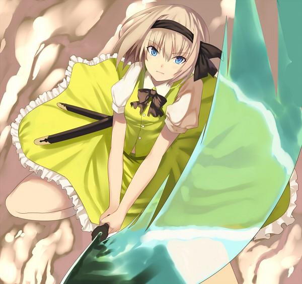 Tags: Anime, Kureha (Ironika), Touhou, Ten Desires, Konpaku Youmu, Green Vest, Fanart From Pixiv, Fanart, Pixiv, Youmu Konpaku