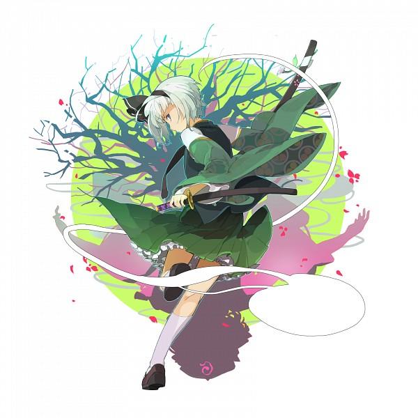 Tags: Anime, Sakura Sora, Touhou, Konpaku Youmu, Fanart, PNG Conversion, Youmu Konpaku