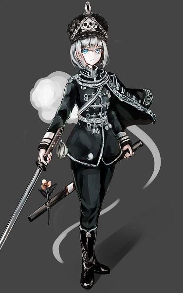 Tags: Anime, jan (lightdragoon), Touhou, Myon, Konpaku Youmu, Hussar, Soldier, Fanart, Mobile Wallpaper, Pixiv, Fanart From Pixiv, Youmu Konpaku