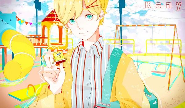 Tags: Anime, SpongeBob SquarePants, Robert Squarepants, Kony, Nico Nico Singer, Fanart, Artist Request