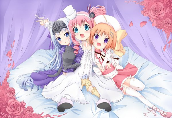 Tags: Anime, Yaguo, Kore wa Zombie Desuka, Haruna (Kore Wa), Chris (Kore Wa), Eucliwood Hellscythe, Is This A Zombie?
