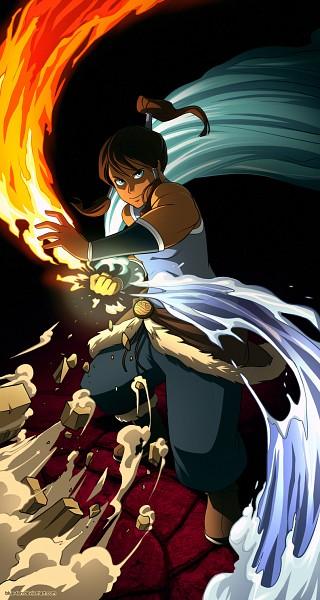 Tags: Anime, Avatar: The Legend of Korra, Korra, Blue-ten, Element, Mobile Wallpaper