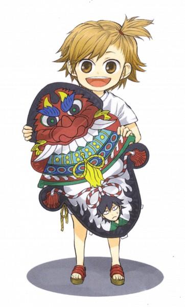 Tags: Anime, Yoshino Satsuki, Barakamon, Kotoishi Naru, Handa Seishuu, Official Art, Scan