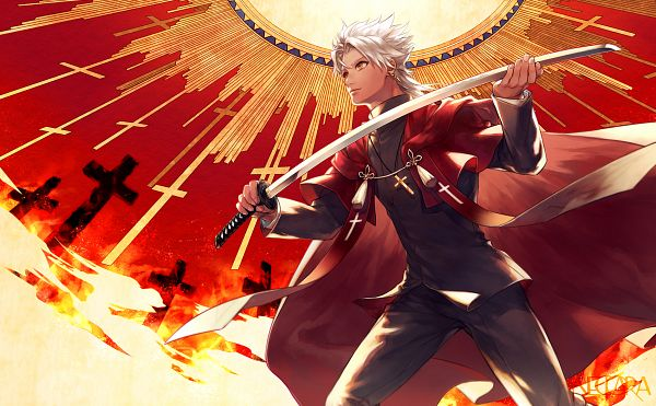 Tags: Anime, neopara, Fate/Grand Order, Kotomine Shirou (Fate/Apocrypha), Fanart From Pixiv, PNG Conversion, Pixiv, Fanart