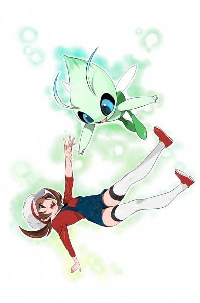 Tags: Anime, Pokémon, Celebi, Kotone (Pokémon), Legendary Pokémon, Mobile Wallpaper