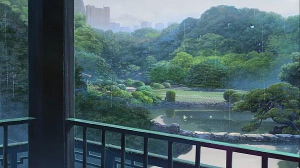 Tags: Anime, Kotonoha no Niwa, No Character, Lake, Facebook Cover