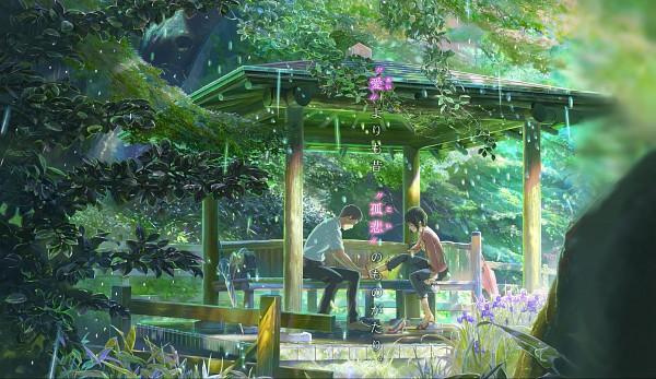 Tags: Anime, Kotonoha no Niwa, Takao Akizuki, Yukino Yukari, Garden, Wallpaper, HD Wallpaper