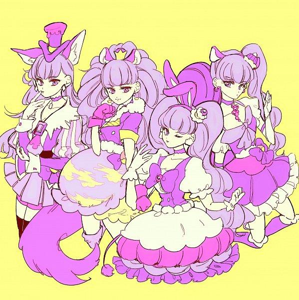 Tags: Anime, Pixiv Id 11549426, Kirakira☆Precure a la Mode, Kotozume Yukari, Cure Chocolat (Cosplay), Cure Gelato (Cosplay), Cure Custard (Cosplay), Cure Whip (Cosplay), Fanart From Pixiv, Pixiv, Fanart