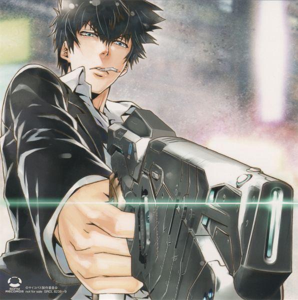Tags: Anime, Amano Akira, PSYCHO-PASS, Kougami Shinya, Official Art, Scan, CD (Source)