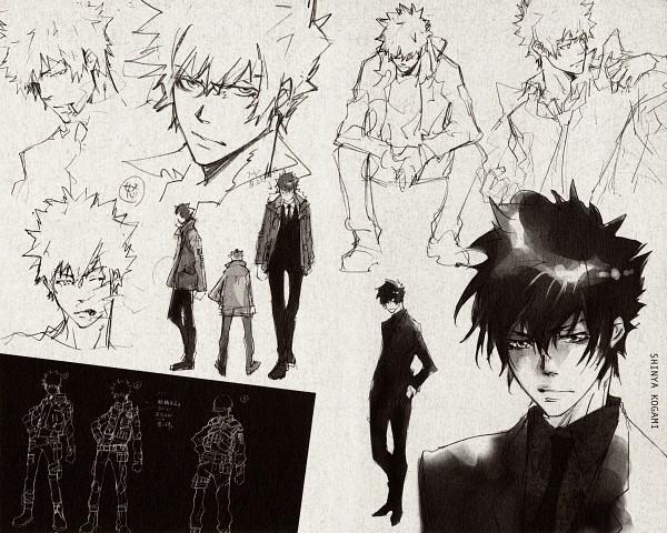 Tags: Anime, Amano Akira, PSYCHO-PASS, REBO to DLIVE, Kougami Shinya, Sketch, Scan, Official Art, Character Sheet