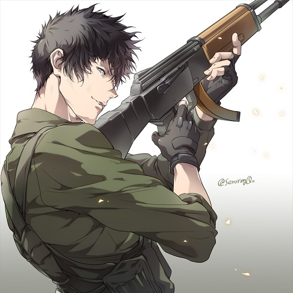 Tags: Anime, PSYCHO-PASS, Kougami Shinya, Bulletproof Vest, Fanart, Fanart From Pixiv, Pixiv