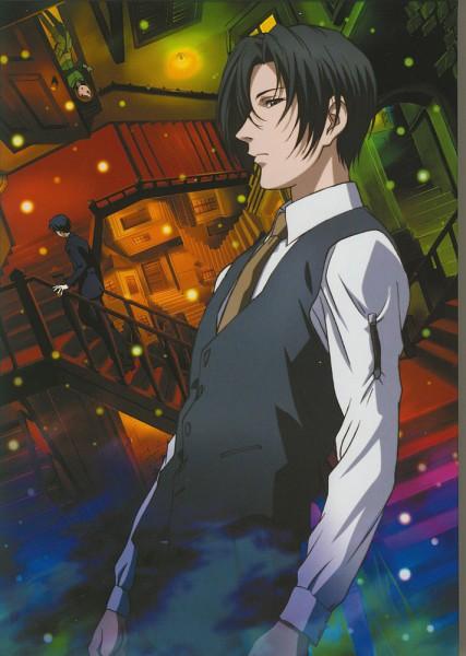 Tags: Anime, Ghost Hunt, Koujo Lin, Shibuya Kazuya, Taniyama Mai, Illusion, Mobile Wallpaper