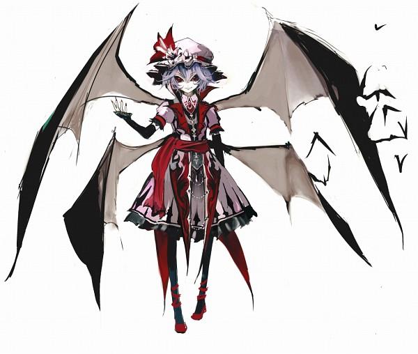 Tags: Anime, Banpai Akira, Frontier Aja, Koumajou Densetsu, Touhou, Remilia Scarlet, Laced Shoes, Pixiv, Official Art