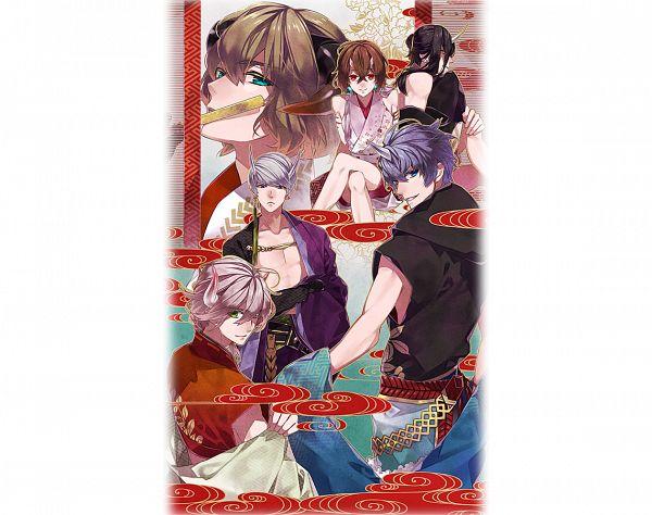 Tags: Anime, Teita, Rejet, Kousen Koi Yuami Jigoku Onsen ~Gensen Kakenagashi~, Ranmaru (Kousen Koi Yuami Jigoku Onsen), Yoshitsune (Kousen Koi Yuami Jigoku Onsen), Rikyuu (Kousen Koi Yuami Jigoku Onsen), Kiyomori (Kousen Koi Yuami Jigoku Onsen), Kira (Kousen Koi Yuami Jigoku Onsen), Mitsuhide (Kousen Koi Yuami Jigoku Onsen), PNG Conversion, Official Art