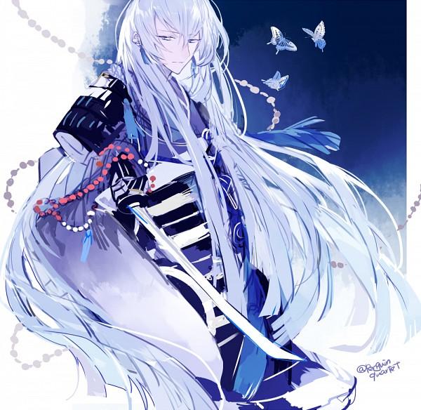 Tags: Anime, Pixiv Id 4162667, Touken Ranbu, Kousetsu Samonji, Cold Colors, PNG Conversion