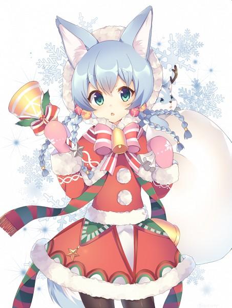 Tags: Anime, Neriusagi, Shironeko Project, Koyomi (Shironeko Project), Pink Handwear, Pink Gloves, Siberian Husky, Sack, Holding Bag, PNG Conversion, Mobile Wallpaper, Twitter, Fanart