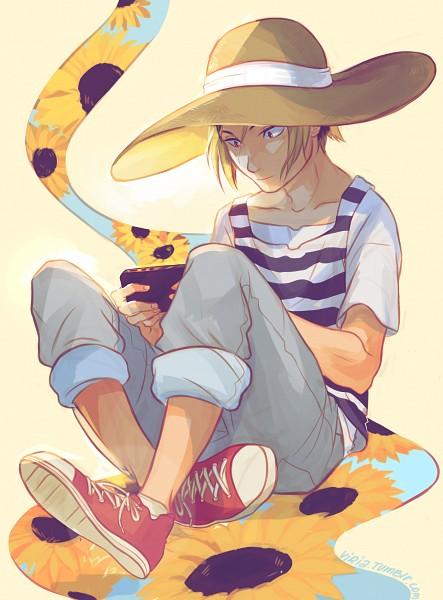 Tags: Anime, Viktoria Ridzel, Haikyuu!!, Kozume Kenma, Fanart, Tumblr, PNG Conversion