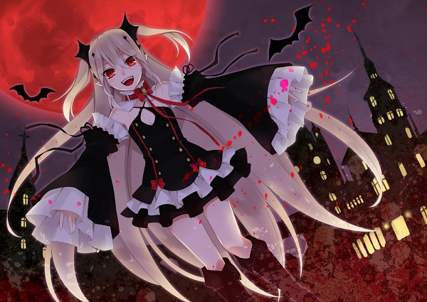 Tags: Anime, Hatsubi, Owari no Seraph, Krul Tepes, Red Moon, Fanart From Pixiv, Pixiv, Fanart