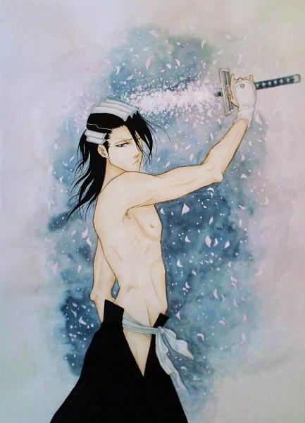 Tags: Anime, Pixiv Id 2203188, BLEACH, Kuchiki Byakuya, Mobile Wallpaper, Artist Request, Gotei 13