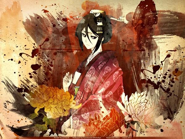 Tags: Anime, Pyrotank, Suzukaseed, BLEACH, Kuchiki Rukia, Edited, Wallpaper, Gotei 13