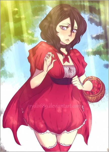 Tags: Anime, Rydi1689, BLEACH, Kuchiki Rukia, Red Riding Hood (Cosplay), Fanart From DeviantART, Fanart, PNG Conversion, Mobile Wallpaper, deviantART