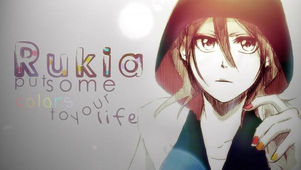 Tags: Anime, BLEACH, Kuchiki Rukia, Multi-colored Nails, Facebook Cover, Wallpaper