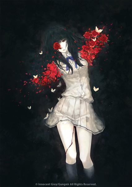 Tags: Anime, Sugina Miki, Innocent Grey, Kara no Shoujo, Kuchiki Toko, Mobile Wallpaper, Official Art