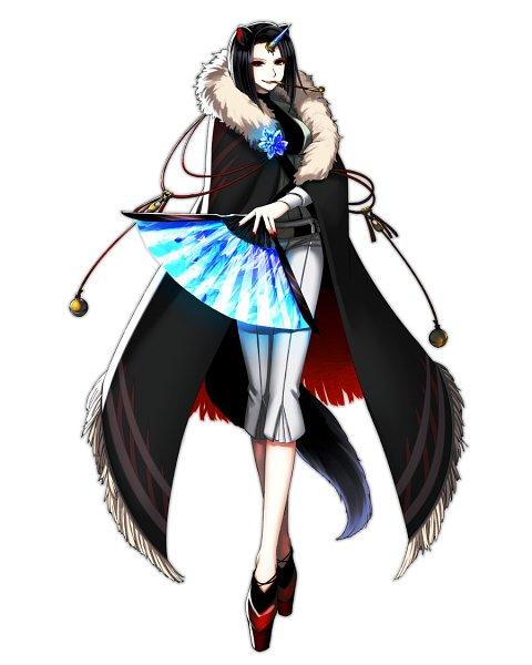 Tags: Anime, Pixiv Id 391935, Black Cape, Platform Shoes, Kuchiyuku Sekai ni Hanamuke wo, Pixiv, Mobile Wallpaper