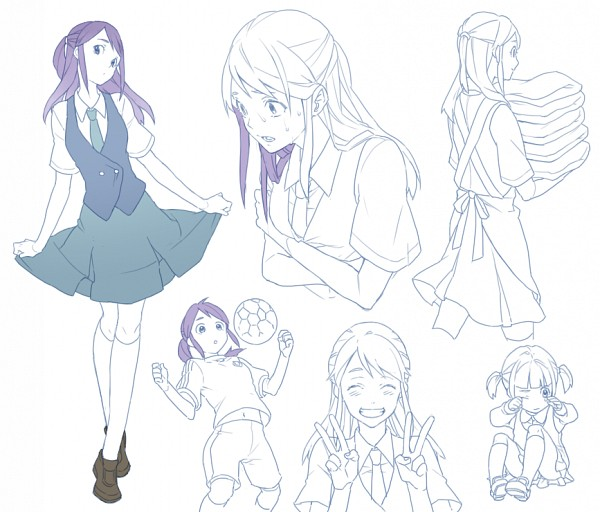 Tags: Anime, Nakahara (Pixiv208060), Inazuma Eleven, Kudou Fuyuka, Self Hug, Wiping Tears, Wide Eyes