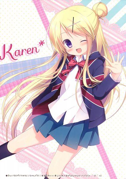 Tags: Anime, Miyasaka Nako, Kiniro Mosaic, Couleur Vive 4, Kujou Karen (Kiniro Mosaic), Mobile Wallpaper, Scan, Comic Market 88