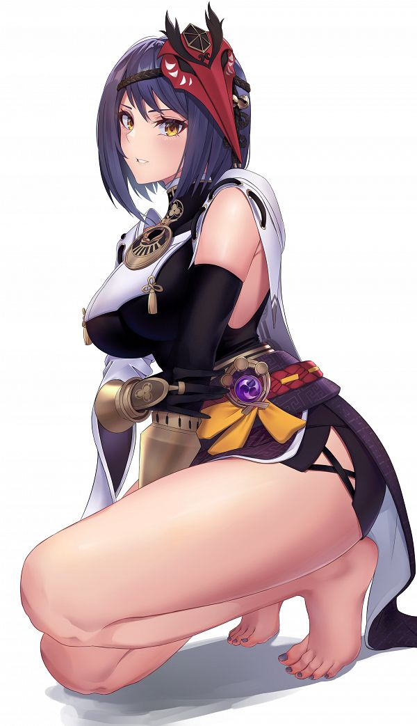 Tags: Anime, Klee08, Genshin Impact, Kujou Sara, Fanart From Pixiv, Pixiv, Fanart