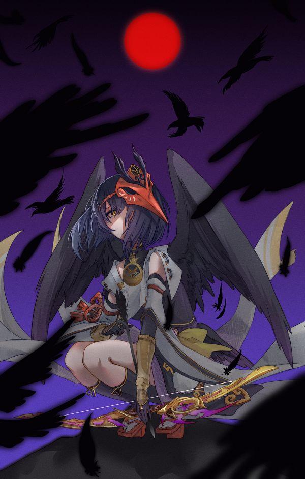 Tags: Anime, Pixiv Id 3303895, Genshin Impact, Kujou Sara