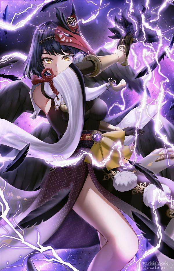 Tags: Anime, Pixiv Id 17324766, Genshin Impact, Kujou Sara