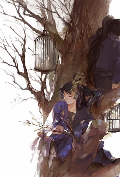 Tags: Anime, Nineo, Rakudai Ninja Rantarou, Kukuchi Heisuke, Ohama Kanemon, Mobile Wallpaper, Pixiv, Fanart, Fanart From Pixiv