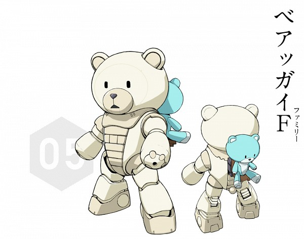 Tags: Anime, Gundam Build Fighters Try, Kuma-f Beargguy F, Official Art