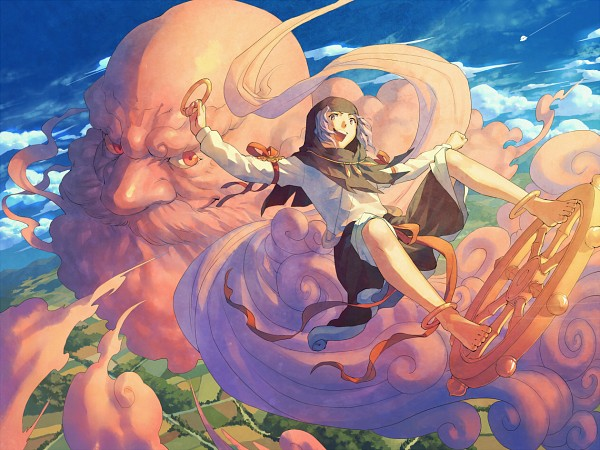 Tags: Anime, Carbohydrate, Touhou, Unzan, Kumoi Ichirin, Wheel, Spaceship, UFO, Fanart, Pixiv, Ichirin Kumoi