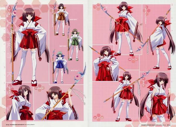 Tags: Anime, Suzuhira Hiro, Phantom Breaker Official Visual Works, Phantom Breaker, Kumon Waka, Official Art