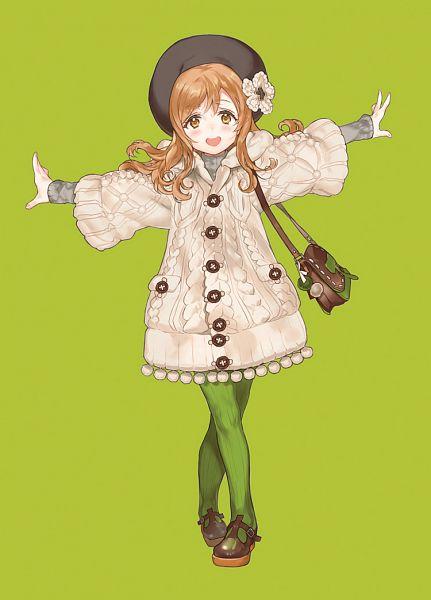 Tags: Anime, Kissai, Love Live! Sunshine!!, Kunikida Hanamaru, Green Legwear, Vertical-striped Legwear, Mobile Wallpaper, Fanart From Pixiv, Pixiv, Revision, Fanart, Hanamaru Kunikida