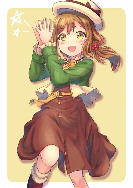 Tags: Anime, B.REN, Love Live! Sunshine!!, Kunikida Hanamaru, Brown Skirt, Fanart From Pixiv, Pixiv, Fanart, Hanamaru Kunikida