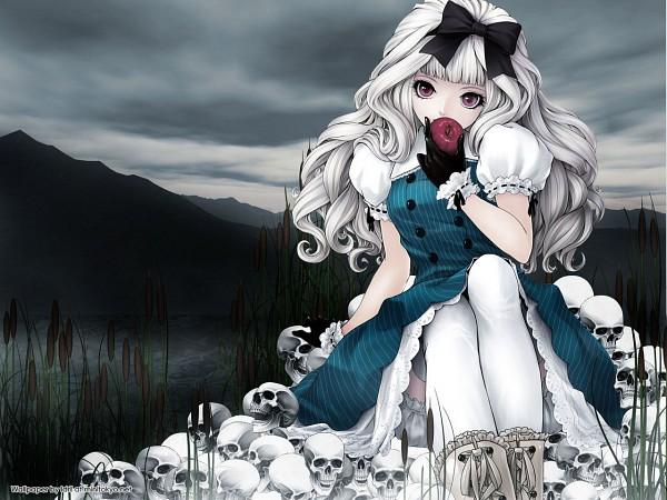 Tags: Anime, Tony Taka, Kunishige Keiichi, Alice in Wonderland, Alice (Alice in Wonderland), Gothic Outfit, Wilderness, Pixiv, Wallpaper