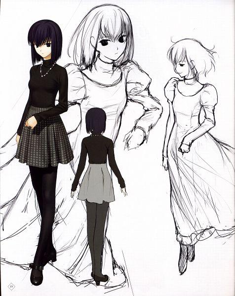 Tags: Anime, Koyama Hirokazu, TYPE-MOON, Mahou Tsukai no Yoru Special Material, Mahou Tsukai no Yoru, Kuonji Alice, Character Sheet, Official Art, Scan