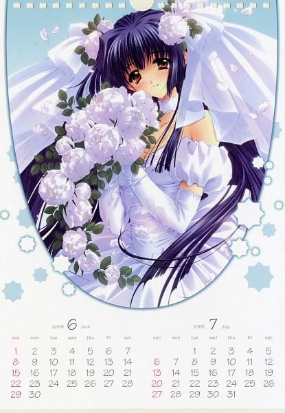 Tags: Anime, CARNELIAN, CARNELIAN 2008 Calendar, Kao no nai Tsuki, Kuraki Suzuna, Peony, Calendar 2008, Mobile Wallpaper, Official Art, Calendar (Source)