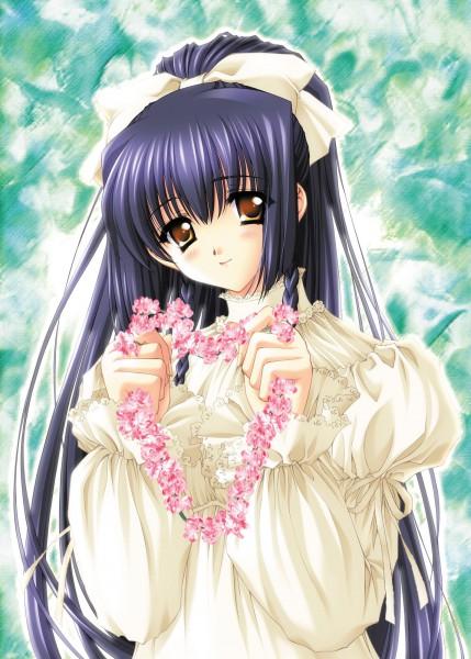 Tags: Anime, CARNELIAN, Kao no nai Tsuki, Kuraki Suzuna, Flower Necklace, CG Art
