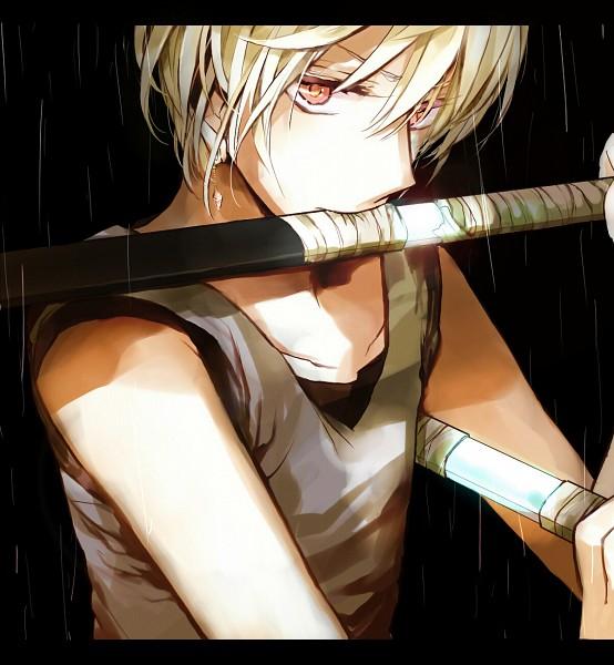 Tags: Anime, Ayatoki, Hunter x Hunter, Kurapika, Weapon In Mouth, Fanart, Pixiv