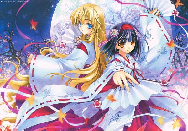 Tags: Anime, Riv, Alcot Honey Comb, Hanakotoba, Kurenai No Tsuki, Saginomiya Sunao, Saginomiya Hiori, Pixiv
