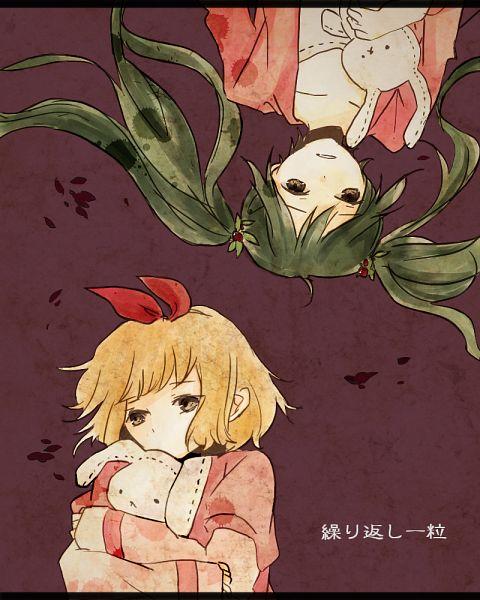 Tags: Anime, Hachi8382, VOCALOID, Hatsune Miku, Kagamine Rin, Kurikaeshi Hitotsubu, Fanart, Pixiv, One Of Repetition