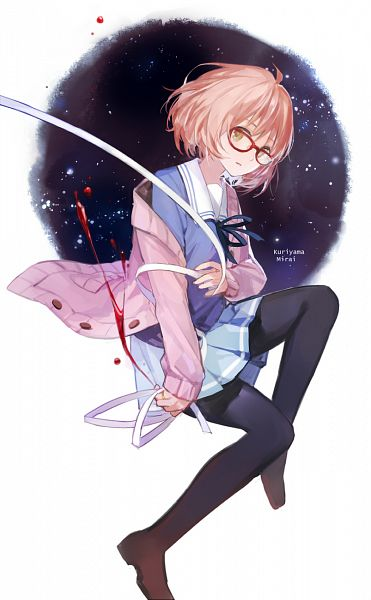 Tags: Anime, Cotta, Kyoukai no Kanata, Kuriyama Mirai, Black Tigh, Mobile Wallpaper