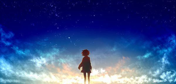 Tags: Anime, Pixiv Id 780081, Kyoukai no Kanata, Kuriyama Mirai, Lonely, Facebook Cover