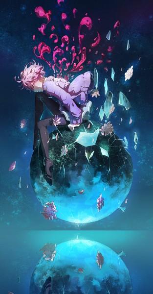 Tags: Anime, Pixiv Id 8086948, Kyoukai no Kanata, Kuriyama Mirai, Fragments, Cracks, Pixiv, Fanart, Mobile Wallpaper, Fanart From Pixiv